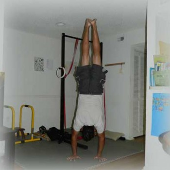 Dan Learning How to Handstand